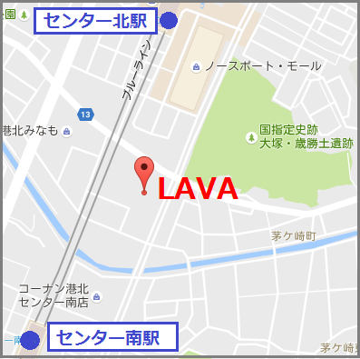 LAVAルララこうほく店の地図
