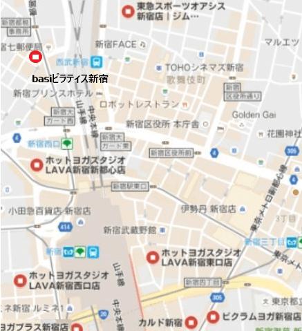 新宿ヨガマップ